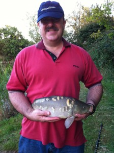 A nice little mirror carp