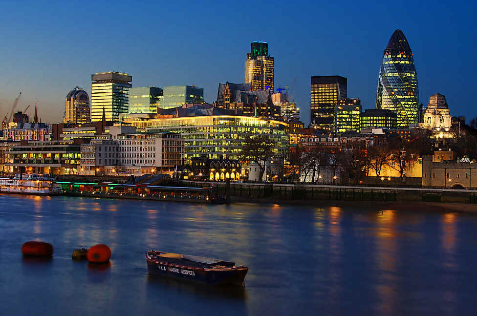 City of London at twilight- Photo by Lars P. Mathiassen