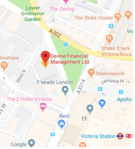 map of 42 Grosvenor Gardens